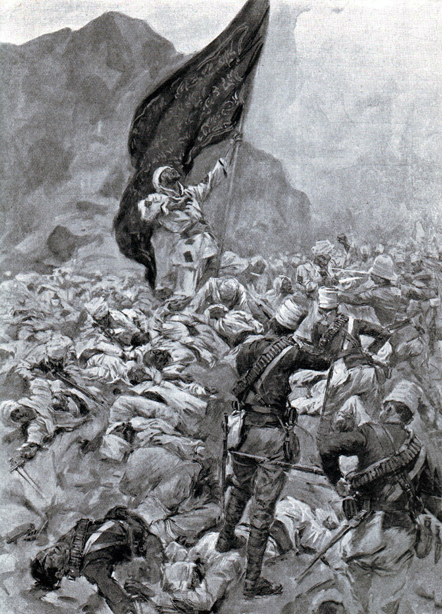 Last bearer of the Khalifa's Black Flag at the Battle of Omdurman on 2nd September 1898 in the Sudanese War