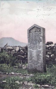 Memorial to the 92nd Highlanders killed at the Battle of Majuba Hill on 27th February 1881 in the First Boer War