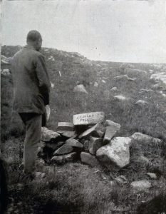 The spot where General Colley fell at the Battle of Majuba Hill on 27th February 1881 in the First Boer War