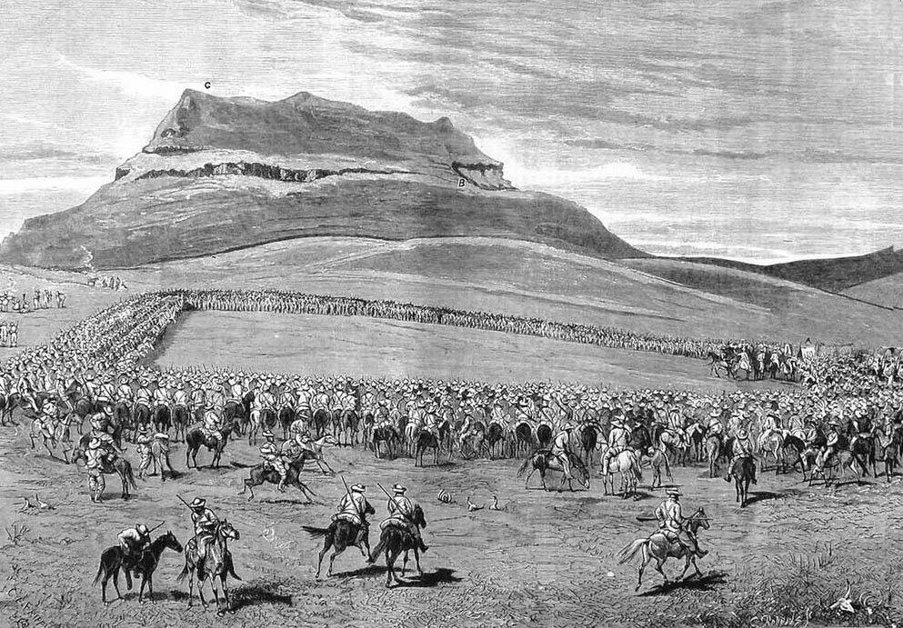 Negotiations between the British and the Boers after the Battle of Majuba Hill on 27th February 1881 in the First Boer War