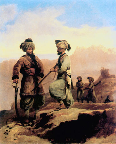 20th Punjab Infantry: Waziristan campaign, 3rd November 1894 to March 1895, on the North-West Frontier of India: picture by Walter Fane