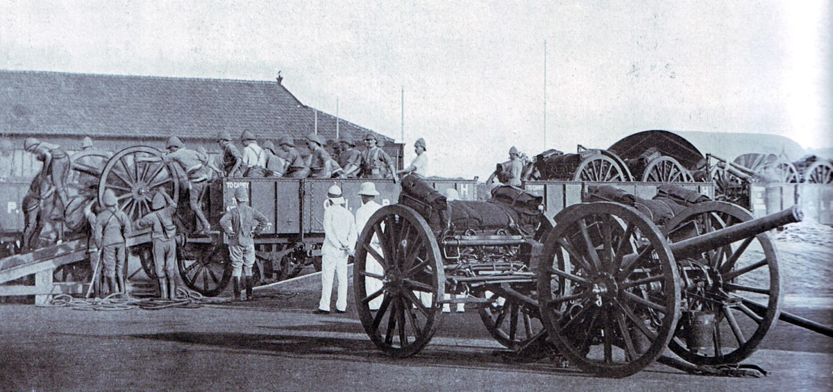 Royal Artillery 42nd Battery arriving at Durban: Siege of Ladysmith, 2nd November 1899 to 27th February 1900 in the Great Boer War