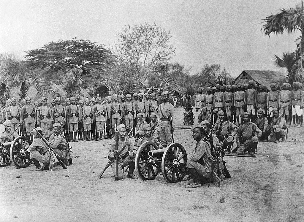 Gurkhas with 7 pounder mountain gun teams: Black Mountain Expedition from 1st October 1888 to 13th November 1888 on the North-West Frontier of India