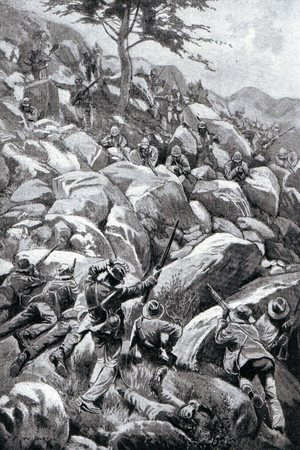 Boer attack on Caesar's Camp on 6th January 1900: Siege of Ladysmith, 2nd November 1899 to 27th February 1900 in the Great Boer War
