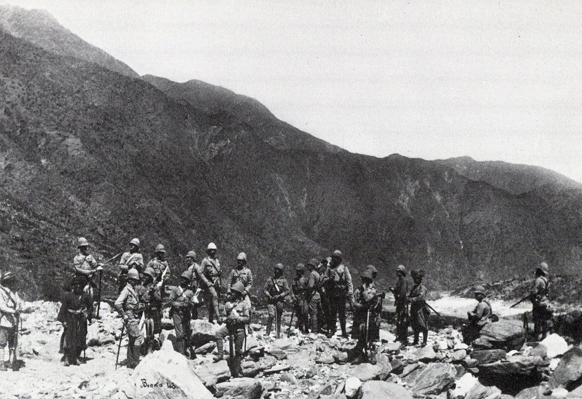British troops in the Indus Valley: Black Mountain Expedition, 1st March 1891 to 29th May 1891 on the North-West Frontier in India