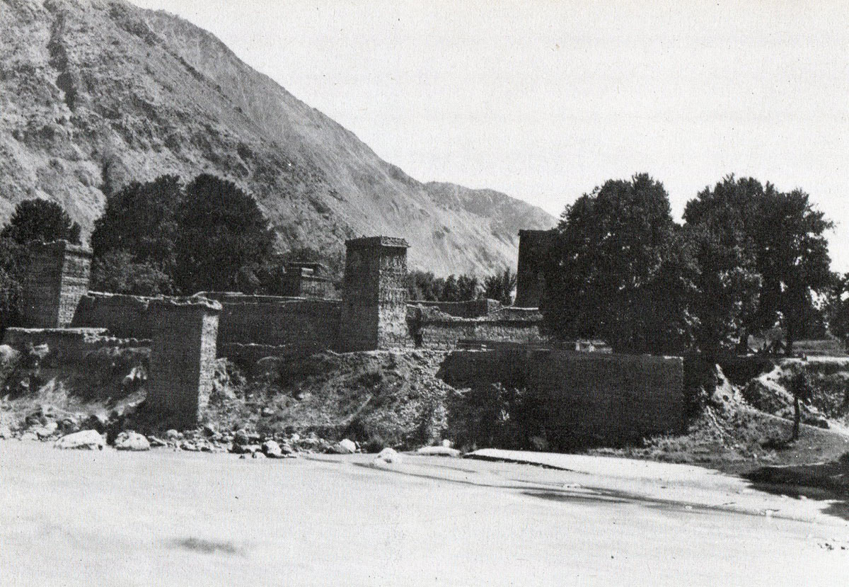 Chitral Fort from across the Kunar River: Siege and Relief of Chitral, 3rd March to 20th April 1895 on the North-West Frontier of India
