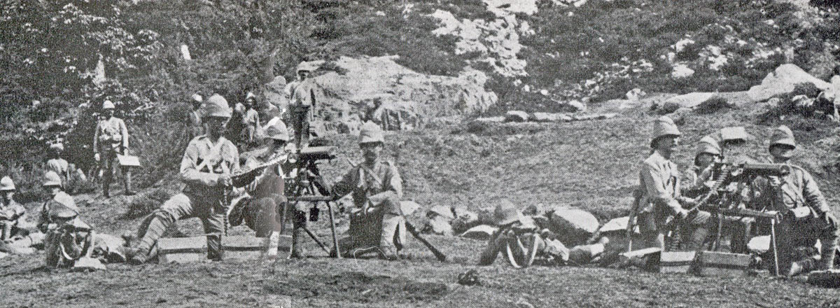 Devonshire Regiment Maxim Gun team: Siege and Relief of Chitral, 3rd March to 20th April 1895 on the North-West Frontier of India
