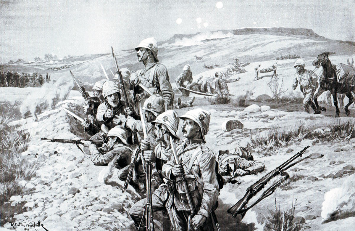 'Fix Bayonets': Siege of Ladysmith, 2nd November 1899 to 27th February 1900 in the Great Boer War: picture by Richard Caton Woodville