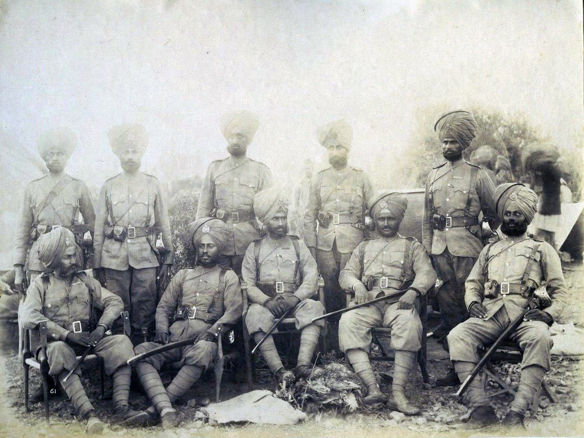 Sikh soldiers: Black Mountain Expedition, 1st March 1891 to 29th May 1891 on the North-West Frontier in India