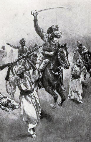Guides Cavalry in action: Siege and Relief of Chitral, 3rd March to 20th April 1895 on the North-West Frontier of India