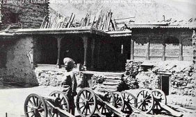 The guns in Chitral Fort: Siege and Relief of Chitral, 3rd March to 20th April 1895 on the North-West Frontier of India