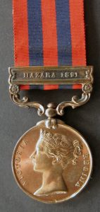 Indian General Service Medal with the clasp 'Hazara 1891': Black Mountain Expedition, 1st March 1891 to 29th May 1891 on the North-West Frontier in India