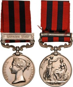 Indian General Service Medal with clasp 'Hazara 1888': Black Mountain Expedition from 1st October 1888 to 13th November 1888 on the North-West Frontier of India