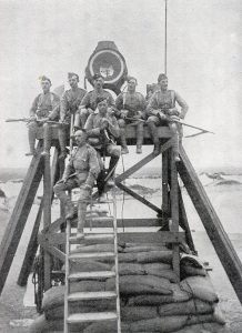 De Beers searchlight used to signal to the relief force: Siege of Kimberley, 14th October 1899 to 15th February 1900 during the Great Boer War