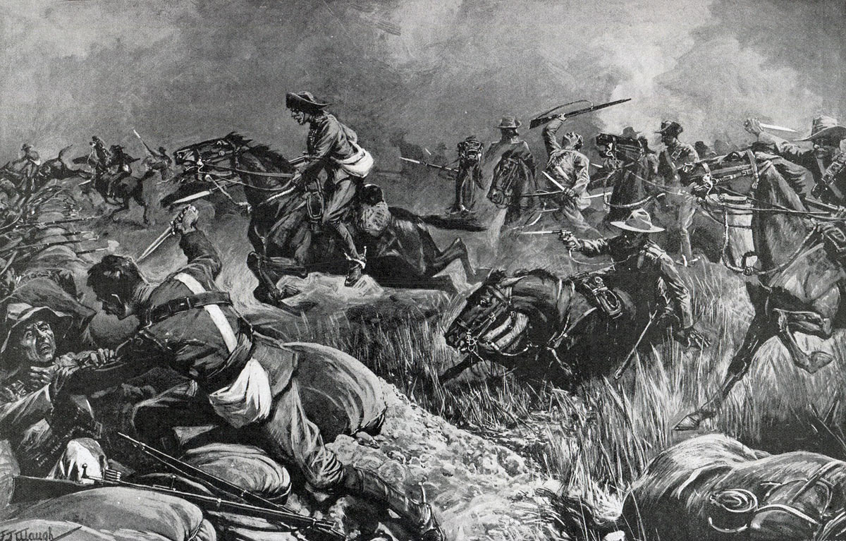 The attack on the Boer lines on 25th November 1899: Siege of Kimberley, 14th October 1899 to 15th February 1900 during the Great Boer War