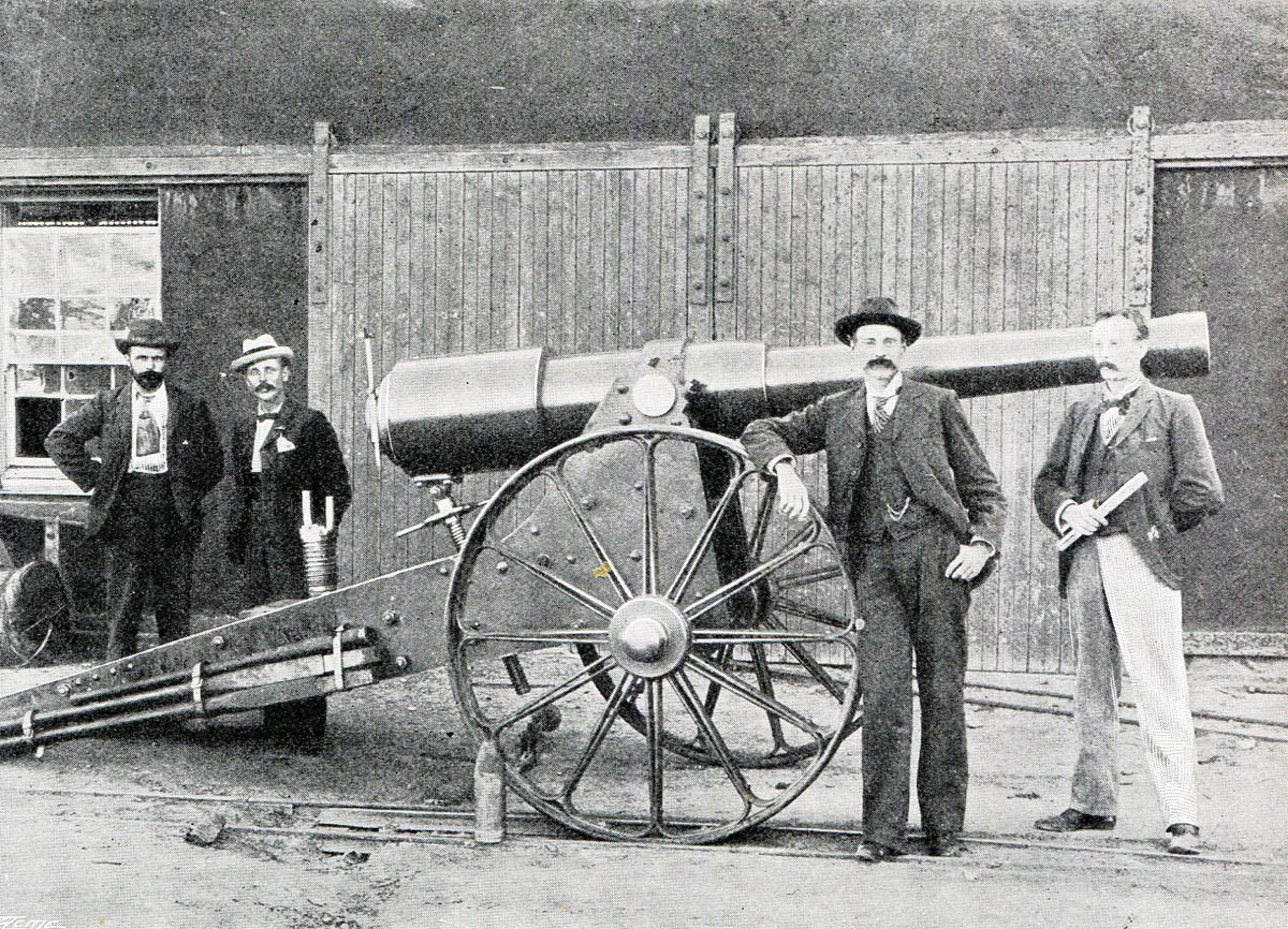 'Long Cecil' 4.1 inch gun made in the De Beers Workshop: Siege of Kimberley, 14th October 1899 to 15th February 1900 during the Great Boer War