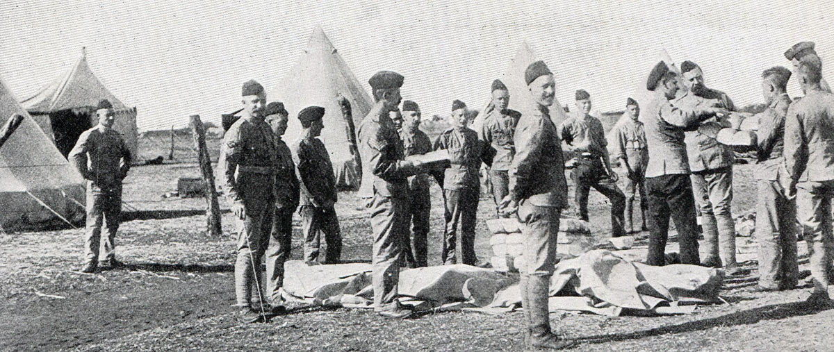 'Loyals' receiving rations: Siege of Kimberley, 14th October 1899 to 15th February 1900 during the Great Boer War