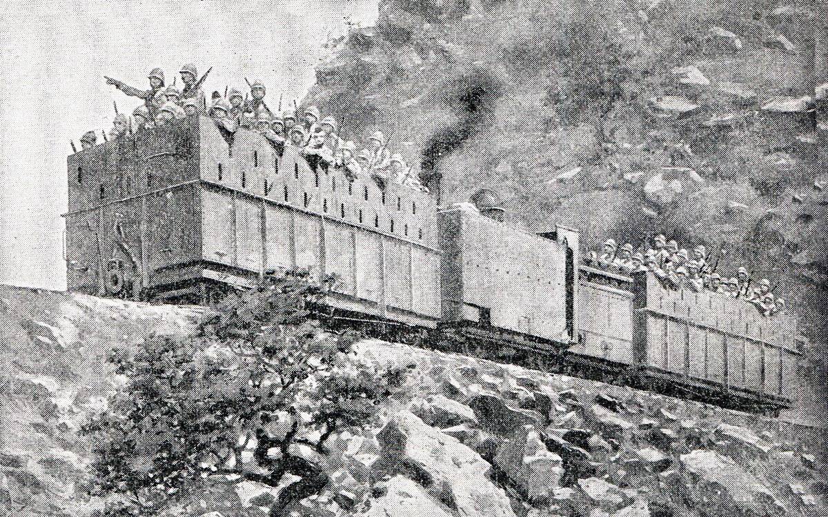 Armoured Train: Siege of Kimberley, 14th October 1899 to 15th February 1900 during the Great Boer War