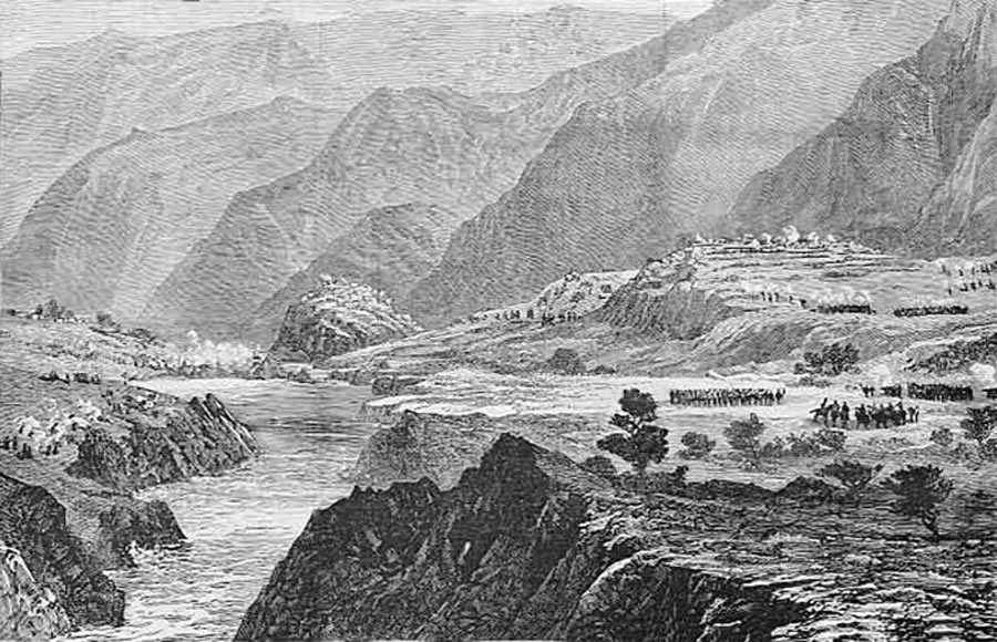 Kotkai occupied by 29th Punjab Infantry: Black Mountain Expedition from 1st October 1888 to 13th November 1888 on the North-West Frontier of India