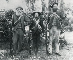 Three generations of Boer soldiers: Siege of Ladysmith, 2nd November 1899 to 27th February 1900 in the Great Boer War