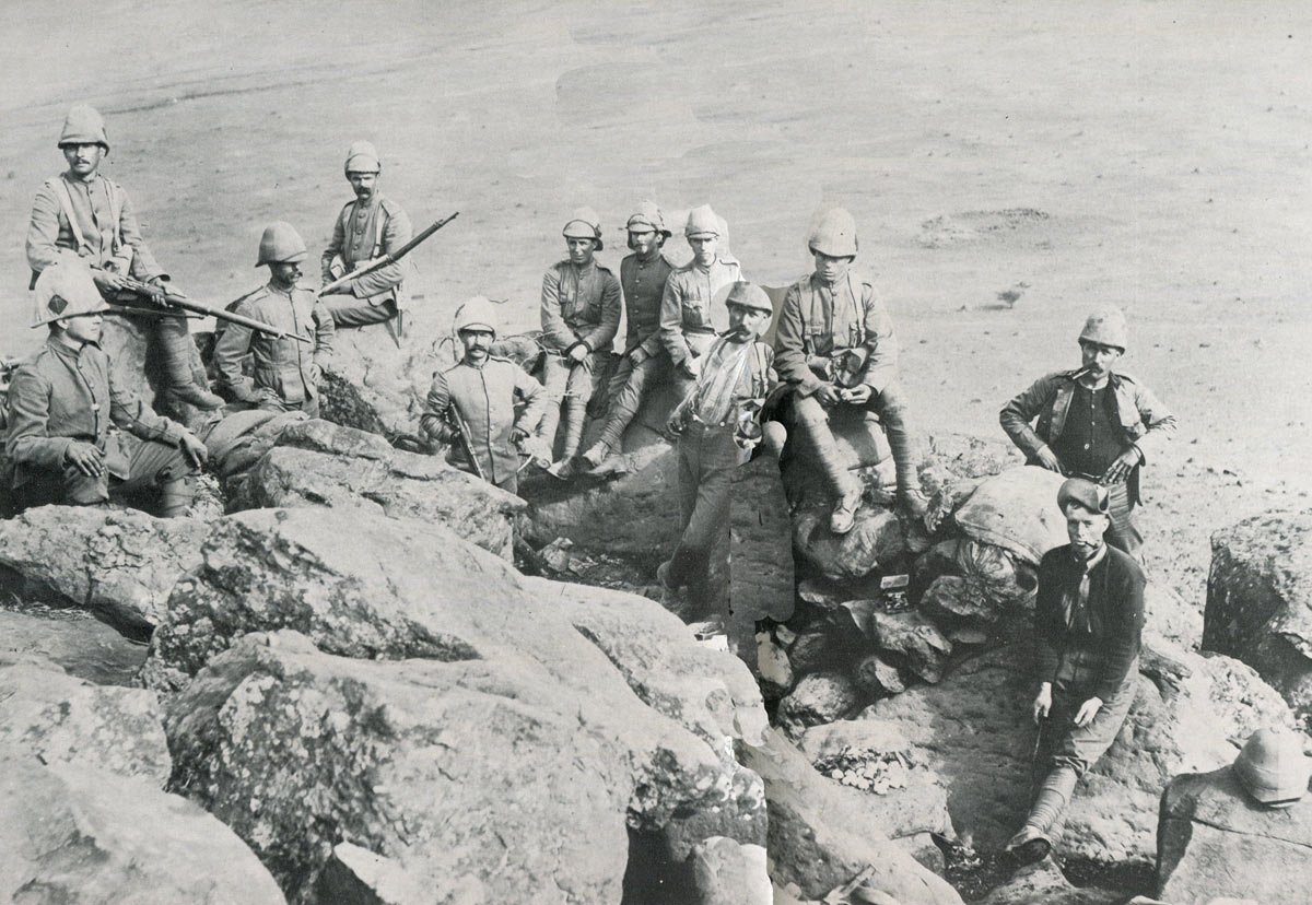 British hilltop picket: Siege of Ladysmith, 2nd November 1899 to 27th February 1900 in the Great Boer War