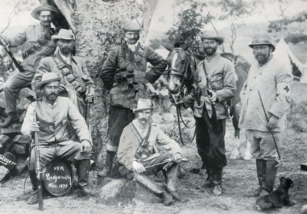German volunteers in the Boer army: Siege of Ladysmith, 2nd November 1899 to 27th February 1900 in the Great Boer War