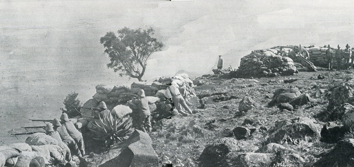 The top of Wagon Hill: Siege of Ladysmith, 2nd November 1899 to 27th February 1900 in the Great Boer War
