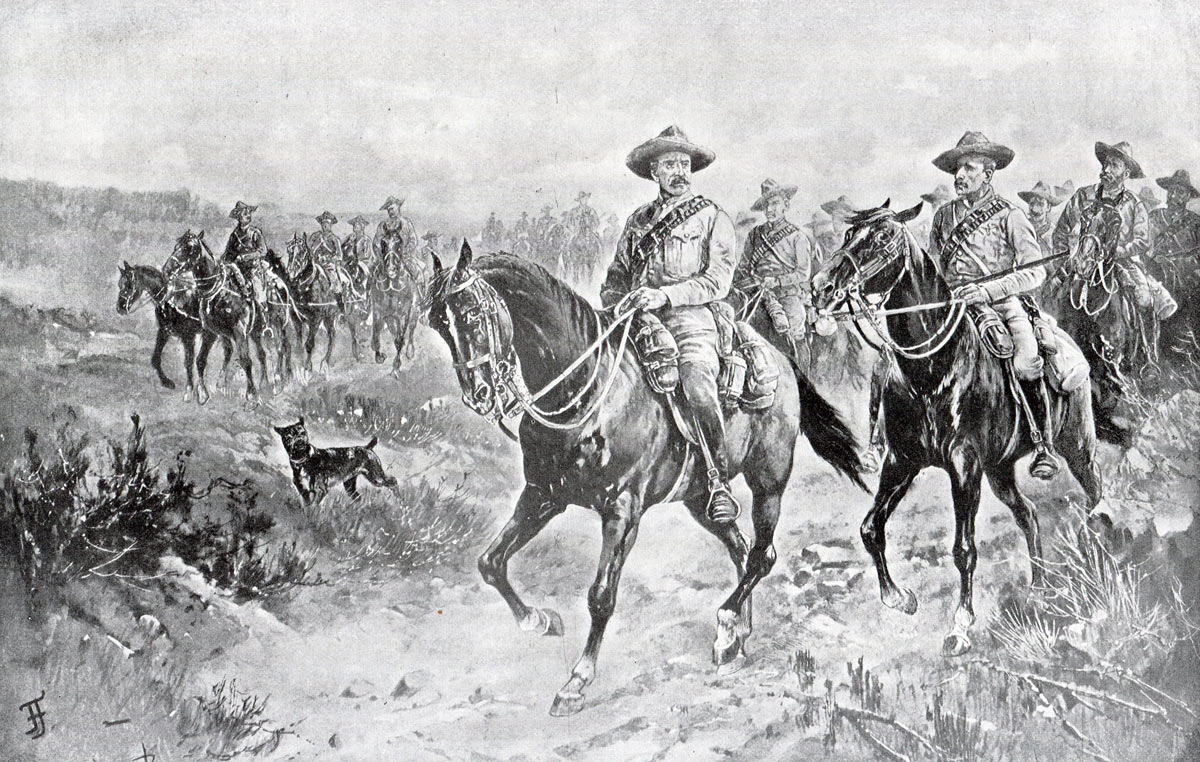 The arrival of Colonel Mahon's relief force: Siege of Mafeking 14th October 1899 to 16th May 1900 in the Great Boer War: picture by Frank Feller