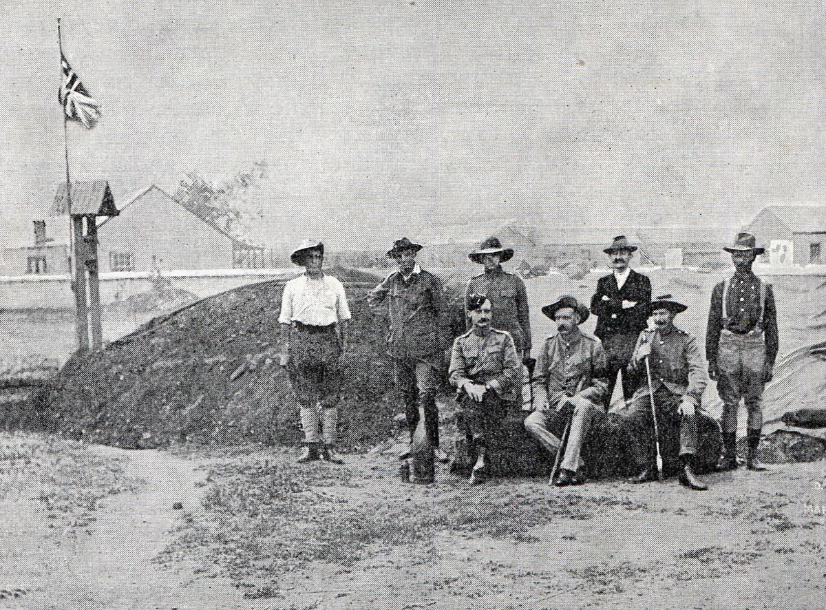 Colonel Robert Baden-Powell with his staff: Siege of Mafeking 14th October 1899 to 16th May 1900