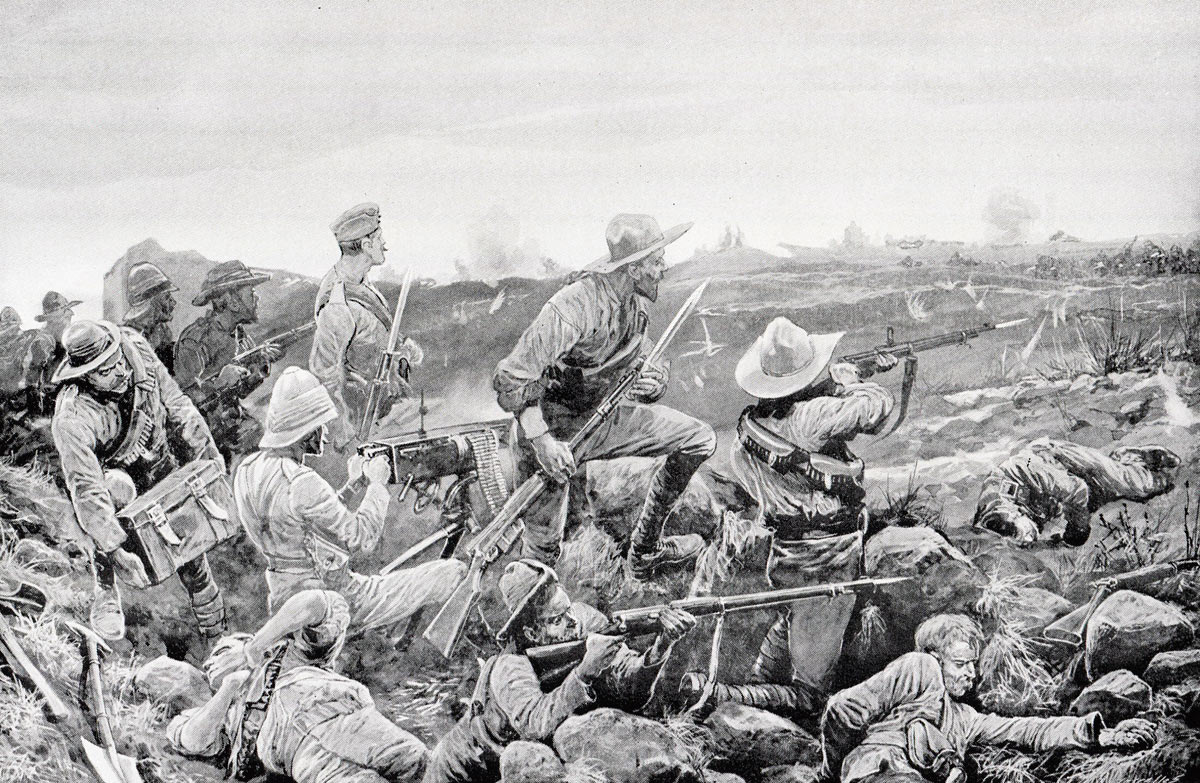 'Hot work in the trenches': Siege of Mafeking 14th October 1899 to 16th May 1900: picture by Richard Caton Woodville