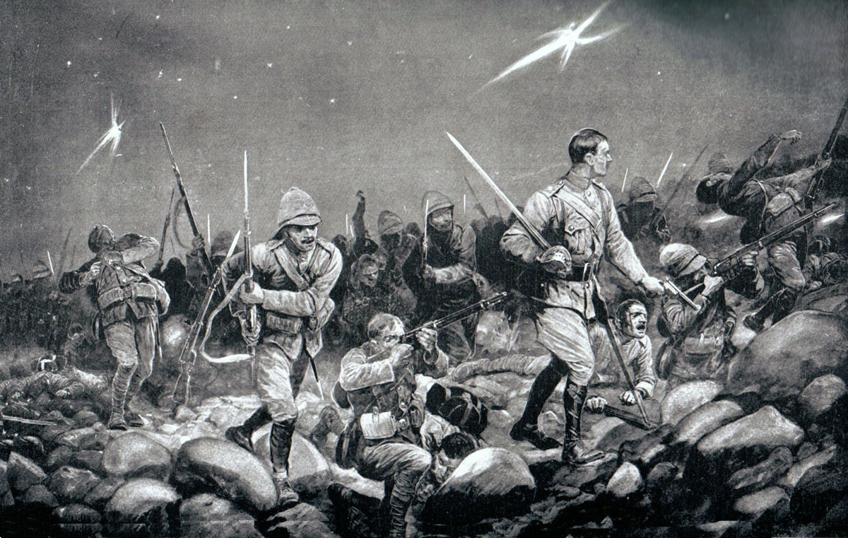 Night Sortie: Siege of Mafeking 14th October 1899 to 16th May 1900: picture by Richard Caton Woodville