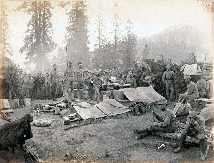 Northumberland Fusiliers in camp: Black Mountain Expedition from 1st October 1888 to 13th November 1888 on the North-West Frontier of India