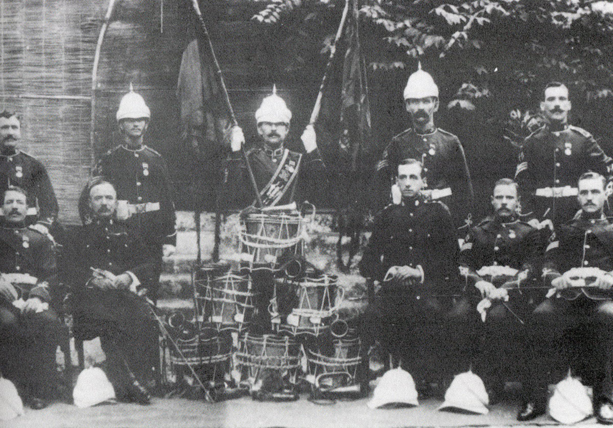 Officers and NCOs of 2nd Royal Irish Regiment: Black Mountain Expedition from 1st October 1888 to 13th November 1888 on the North-West Frontier of India