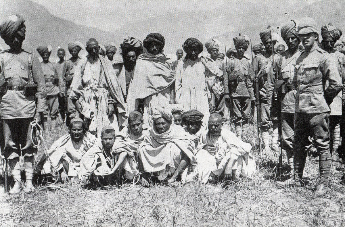 Tribal prisoners taken during the storming of the Malakand Pass: Siege and Relief of Chitral, 3rd March to 20th April 1895 on the North-West Frontier of India