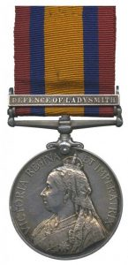 Queen's South Africa Medal with clasp 'Defence of Ladysmith'