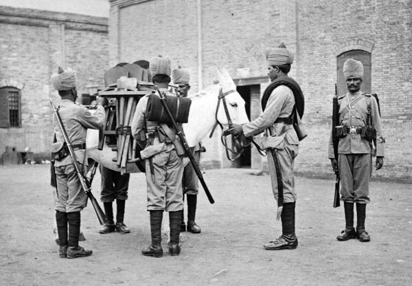 Sappers and Miners: Waziristan campaign, 3rd November 1894 to March 1895, on the North-West Frontier of India