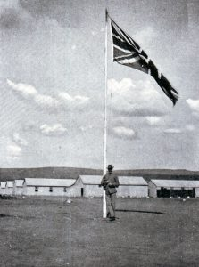 Union Jack flying over the town: Siege of Ladysmith, 2nd November 1899 to 27th February 1900 in the Great Boer War