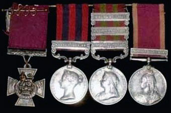 Captain Whitchurch's medals: Siege and Relief of Chitral, 3rd March to 20th April 1895 on the North-West Frontier of India