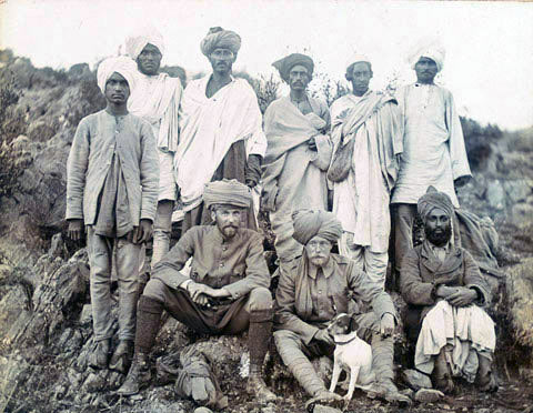 Fowler and Edwardes, with Biddy after their capture: Siege and Relief oaf Chitral, 3rd March to 20th April 1895 on the North-West Frontier of India