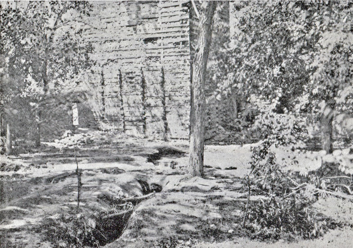 The exploded mine by the Gun Tower: Siege and Relief oaf Chitral, 3rd March to 20th April 1895 on the North-West Frontier of India