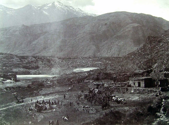 Village of Ghazikot: Black Mountain Expedition, 1st March 1891 to 29th May 1891 on the North-West Frontier in India