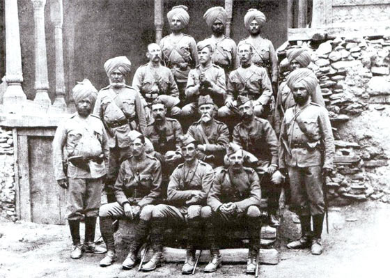 Colonel Kelly with the officers of the 32nd Sikh Pioneers: Siege and Relief oaf Chitral, 3rd March to 20th April 1895 on the North-West Frontier of India