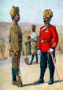 3rd Sappers and Miners: Mohmand Field Force, 7th August to 1st October 1897, North-West Frontier of India: pictcure by AC Lovett