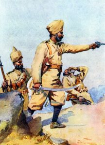 24th Punjabis: Malakand Rising, 26th July to 22nd August 1897 on the North-West Frontier of India: picture by AC Lovett