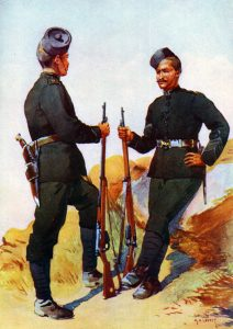 39th Garwhal Rifles: Mohmand Field Force, 7th August to 1st October 1897, North-West Frontier of India: picture by AC Lovett