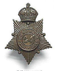 Badge of the 24th Punjabis: Malakand Rising, 26th July to 22nd August 1897 on the North-West Frontier of India