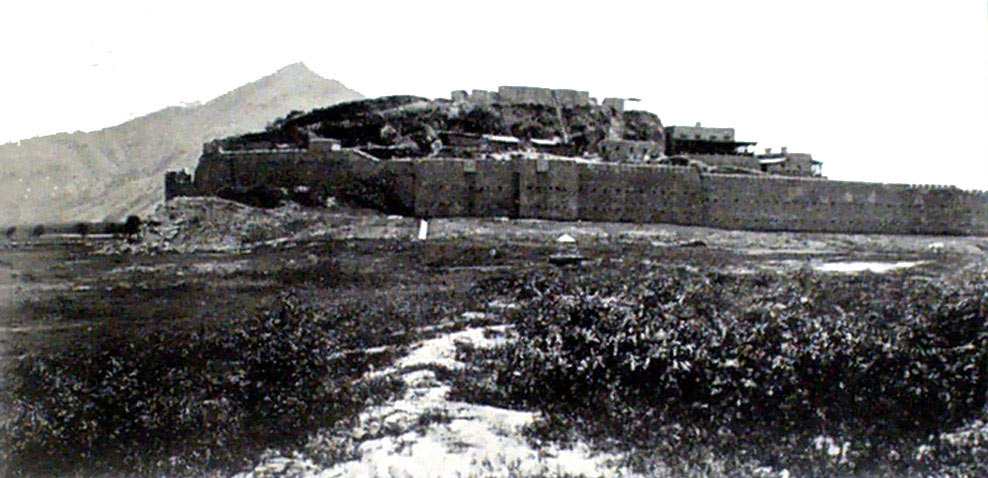 Chakdara Fort seen from the north: Malakand Rising, 26th July to 22nd August 1897 on the North-West Frontier of India