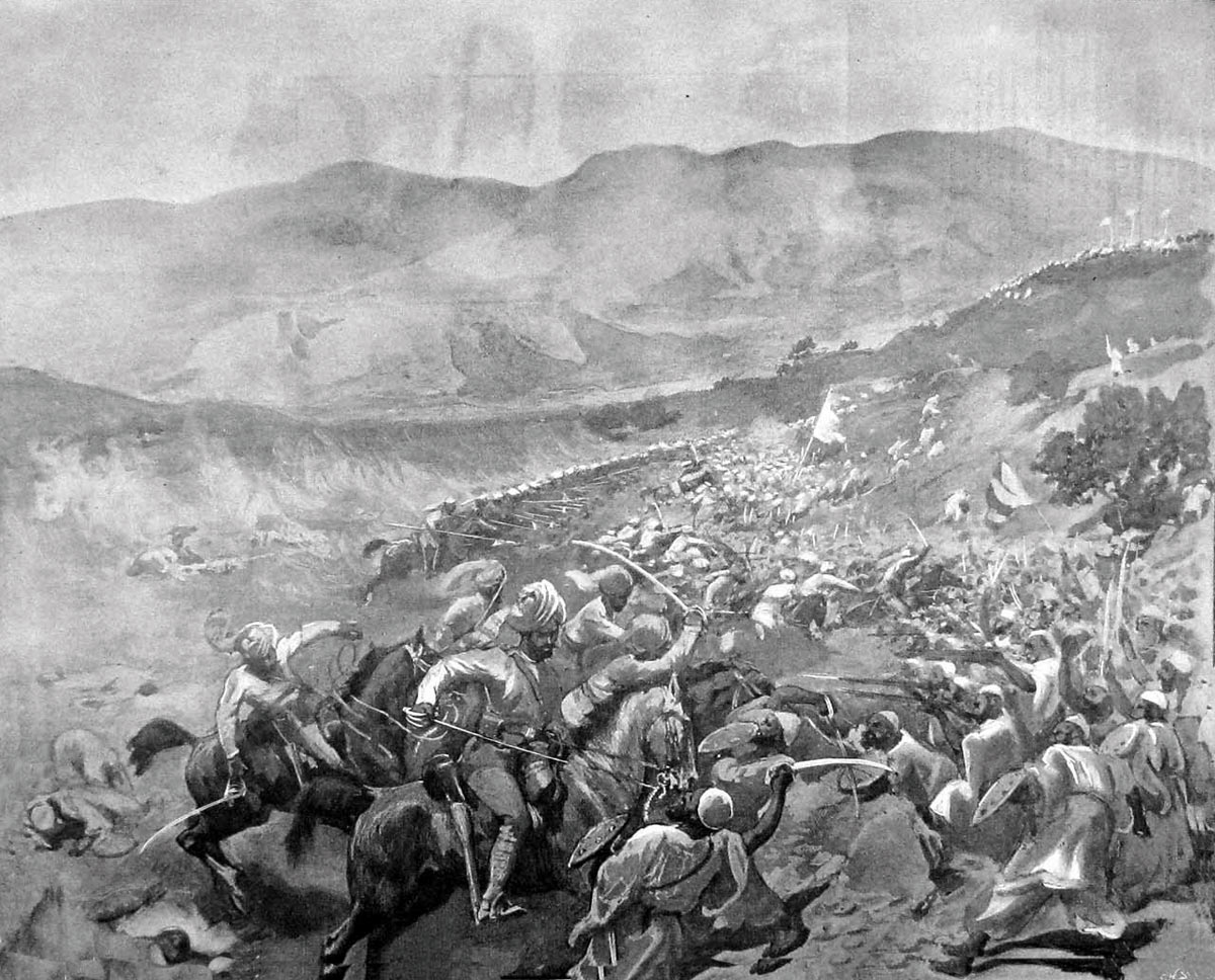 Charge of the 11th Bengal Lancers and the Guides Cavalry in the relief of Chakdara Fortl: Malakand Rising, 26th July to 22nd August 1897 on the North-West Frontier of India