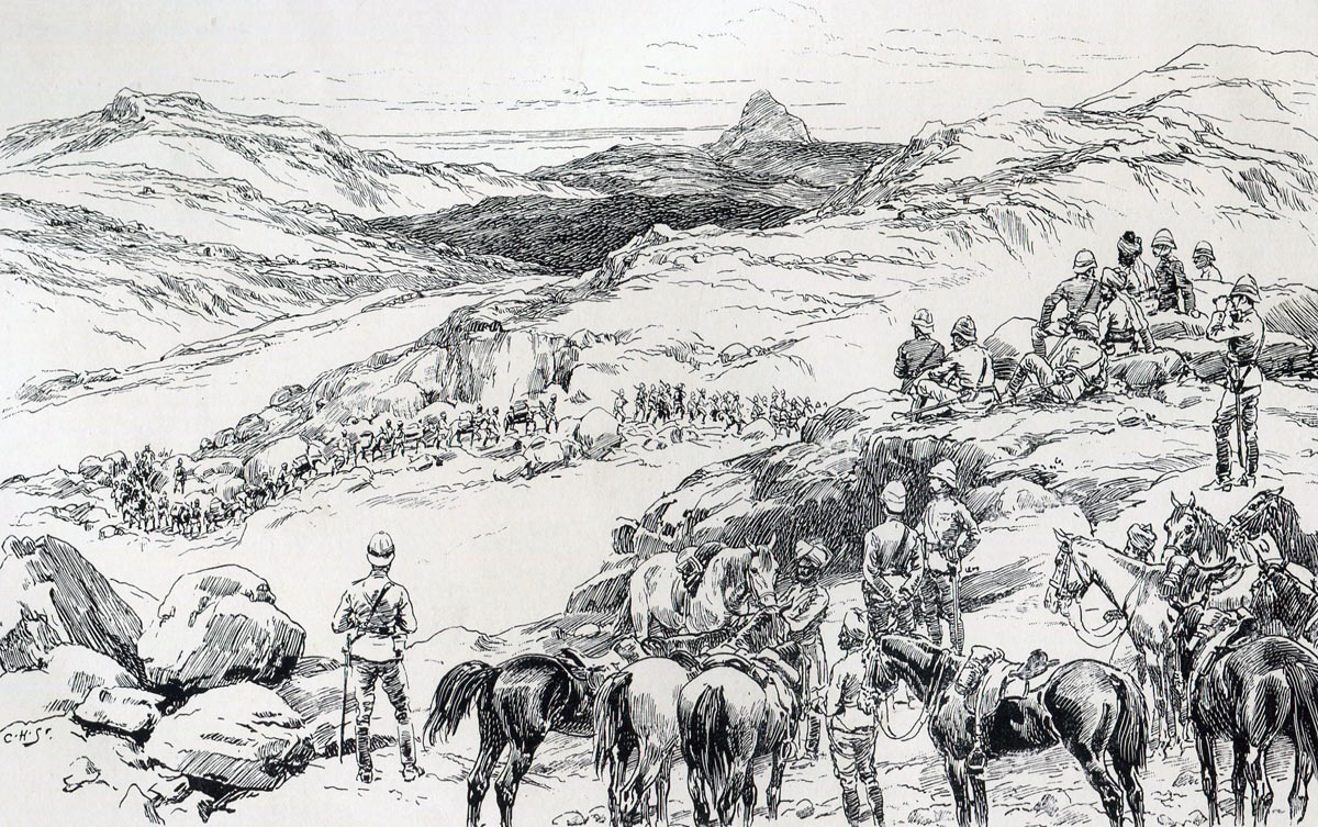 The Mohmand Field Force advances into the Bedmanai Valley on 22nd September 1897: Mohmand Field Force, 7th August to 1st October 1897, North-West Frontier of India