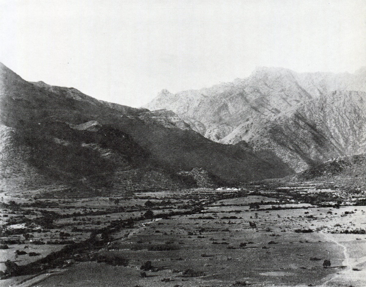 Chitral Relief Expedition encamped below the Malakand Pass: Siege and Relief of Chitral, 3rd March to 20th April 1895 on the North-West Frontier of India